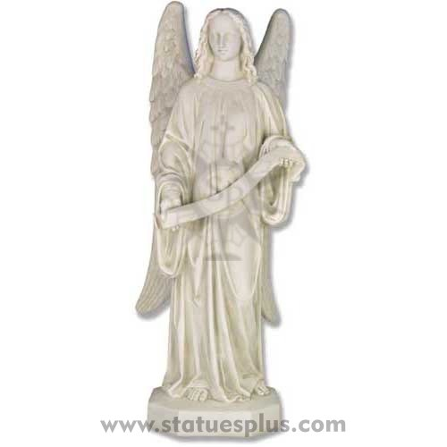 Banner Angel statue left