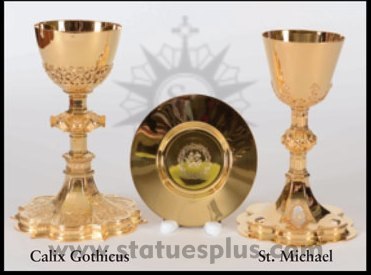 New St Calix Gothicus and St. Michael chalices