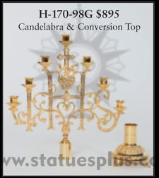 Candelabra with Conversion Top