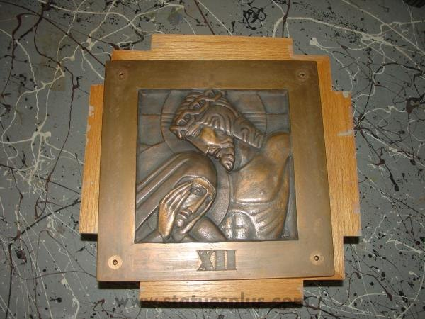 Complete Set of Bronze Stations of the Cross