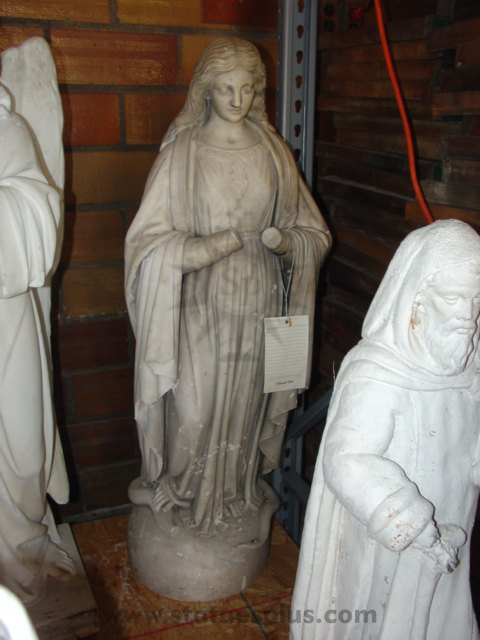 Vintage Marble Mary Statue