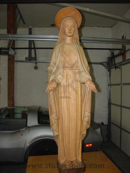 Carved Wood Mary