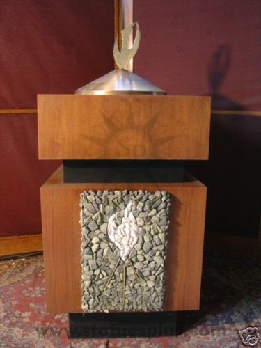 Wood 'Holy Spirit' Baptismal Font