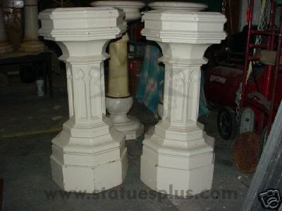Gothic Church Pedestal Set