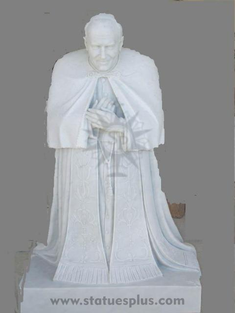 New Marble Pope John Paul Statue
