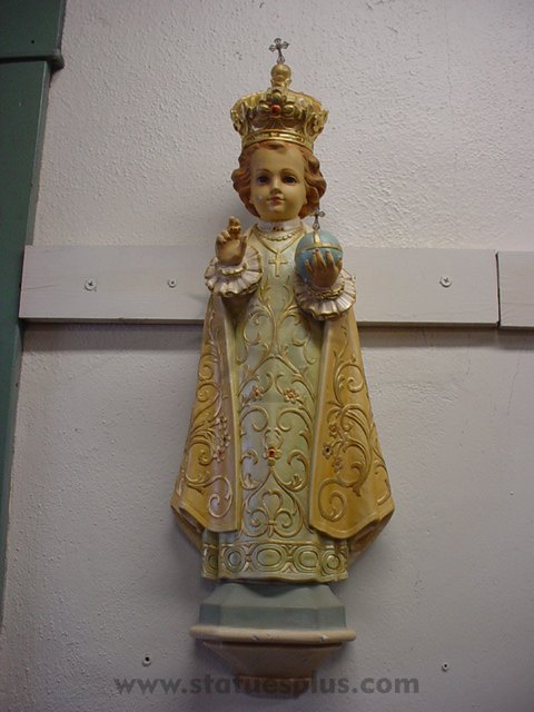 Infant of Prague Statue Relief