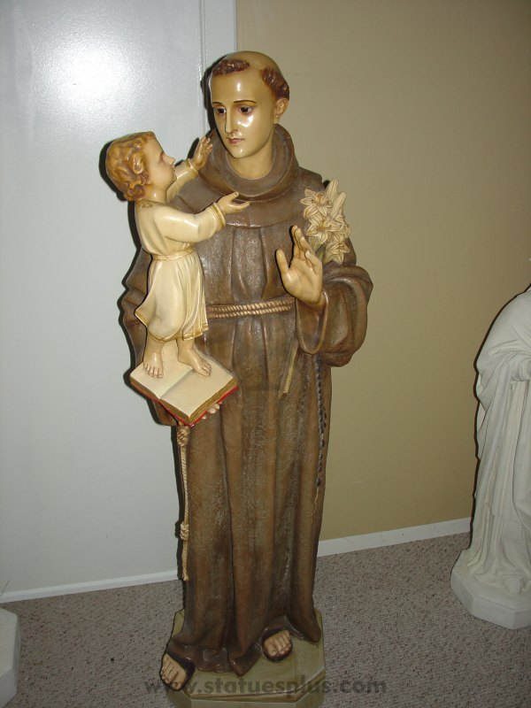 Vintage St. Anthony and Child Jesus Statue