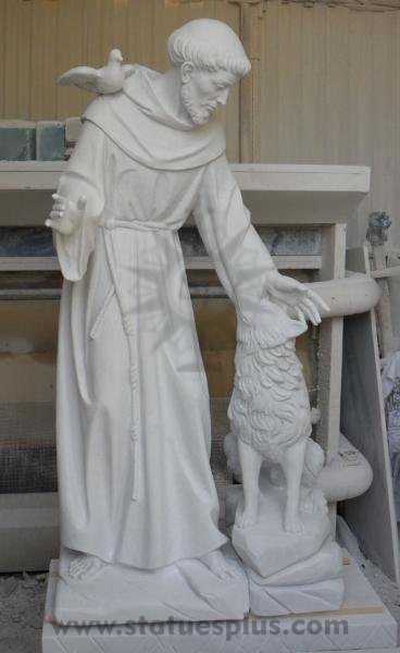 New Marble Saint Francis Statue