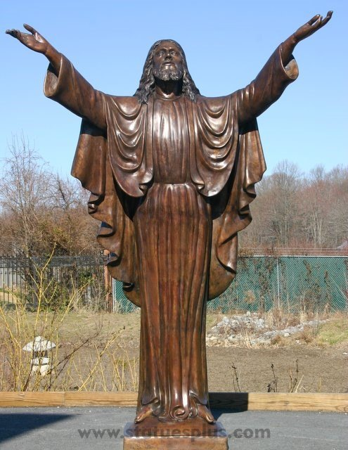 Sacred Heart in Bronze