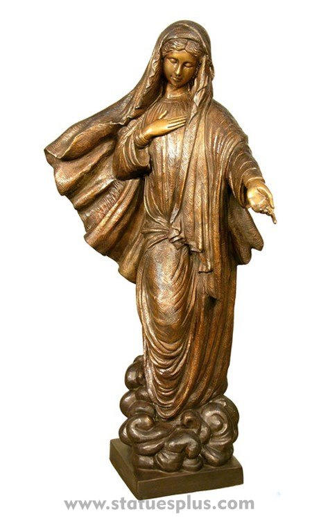 Statue of Mary in Bronze
