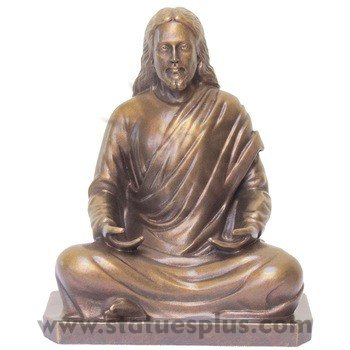 Seated Jesus in Bronze
